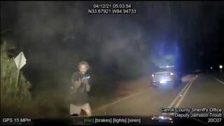 Dash Cam video from the Carroll County pursuit and shoot out, that left 3 officers injured